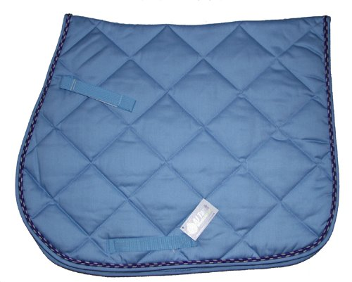 All Purpose Large Diamond Quilted Cotton English Saddle Pad Light Blue (Quilted Saddle Pads Purpose)