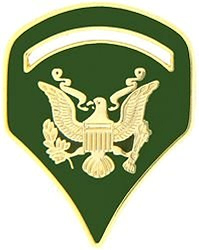 - U.S. Army Specialist E-5 Hat Pin - FULL COLOR