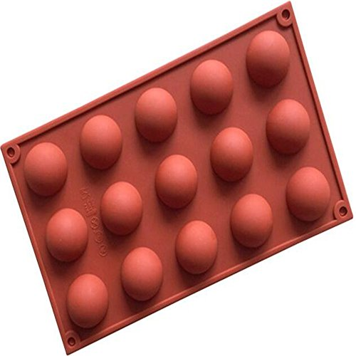 1 pcs 15 Cavity Mini Half Sphere Silicone Cake Baking Pan Mold Polymer Clay handmade Chocolate Candy Ice Cube Tray DIY Mold Mould
