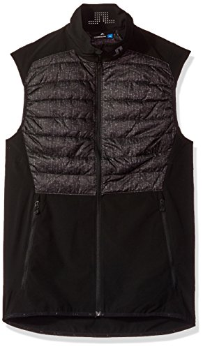 J.Lindeberg Men's Insulated Hybrid Vest, Black Wave Print, (J Lindeberg Vest)