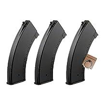CYMA AK 150rds Mid-Cap Magazine for Airsoft Marui Std AK74 AK47 AK Series AEG X 3PCS -Mobile Ring Included