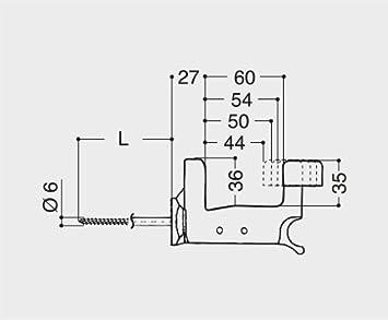 Esin plast 099993000 Super Top Grillo Ferme volet automatique Avec vis 70/mm Brevet/é En polyamide Nylon