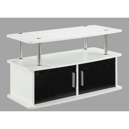 """Convenience Concepts Designs2Go Deluxe 2-Door TV Stand with Cabinets for TVs up to 36"""", White"""