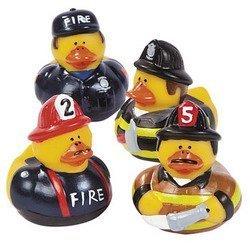 - Pack Of 12 Firefighter Fireman Fire Fighter Hero Rubber Ducks Duckys