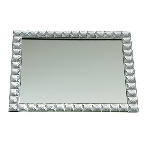 Elegance Silver Mirror Vanity Tray, 9 X 11