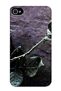 [94c4a425603]premium Phone Case For Iphone 4/4s/ Black Roses Tpu Case Cover(best Gift Choice)