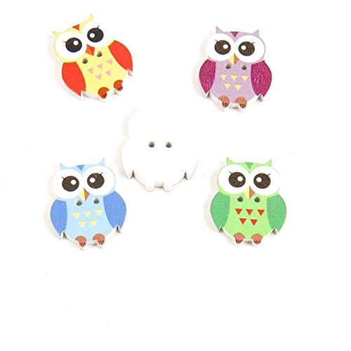 Price per 5 Pieces Sewing Sew On Buttons AK5D1 Big Eyes Owl
