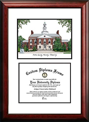 - Campus Images KY999V Eastern Kentucky University Scholar Diploma Frame, 8.5