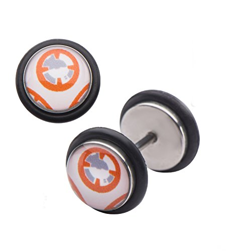 Star Wars: Flat BB-8 Screw Back Earrings 316 Stainless Steel, (Best 1000 Jewels Friends Unisex Rings)