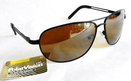 Polar Vision HI-DEF POLARIZED Aviator Sport Sunglasses (508) 100% UVA & UVB Protection-Shatter Resistant + FREE BONUS MICROSUEDE CLEANING - Sunglasses Hi Def