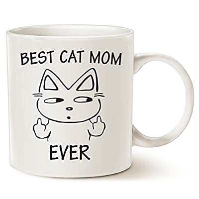 Cat Fan related Products MAUAG Funny Cat Mom Coffee Mug for Cat Lovers, Best Cat Mom Ever Best Cute...