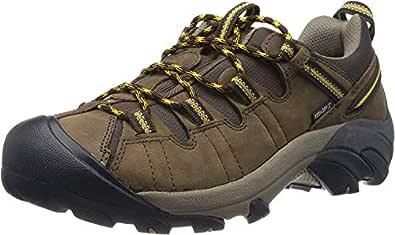 KEEN Shoes Targhee II WP Mens Men's Hiking Shoes, Cascade Brown Golden Yellow, 7 US