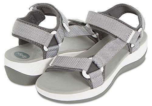 Floopi Summer Beach & Sports Sandals for Women   Multiple Adjustable Velcro Strap Design  Lightweight Outdoor, Walking, Hiking   1.75