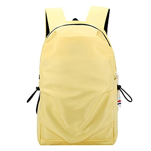Hot Sale! Lightweight Backpack, Water Resistant Travel Camping Hiking Daypack For Men & Women School Backpack Book Bags (11''(L) x5.9''(W) x16.9''(H), Yellow)