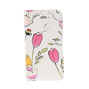Pequeño estuche de cuero fresco del tulipán con el soporte para el iphone 4/4S