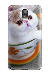 Fashion Tpu Case For Galaxy Note 3- Teacup Cats Defender Case Cover