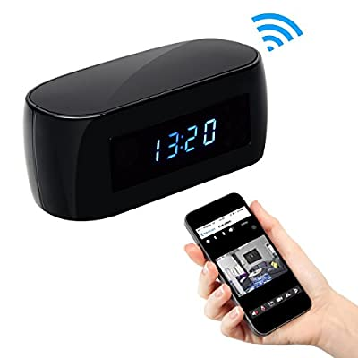 SpyGear-?2018 Upgraded Version? HD 1080P Clock WIFI Hidden Camera Covert Nanny Cam Wireless IP Home Security Cameras Night Vision Support IOS/Android Phone PC Video Recorder Remote View - ALON