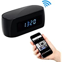 【2018 Upgraded Version】 HD 1080P Clock WIFI Hidden Camera Covert Nanny Cam Wireless IP Home Security Cameras Night Vision Support IOS/Android Phone PC Video Recorder Remote View