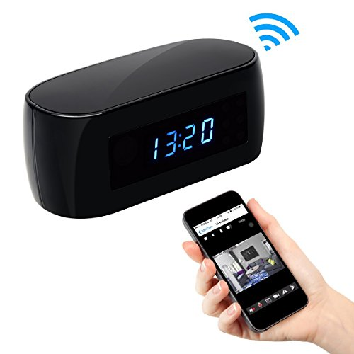 【2018 Upgraded Version】 Hd 1080p Clock Wifi Hidden Camera