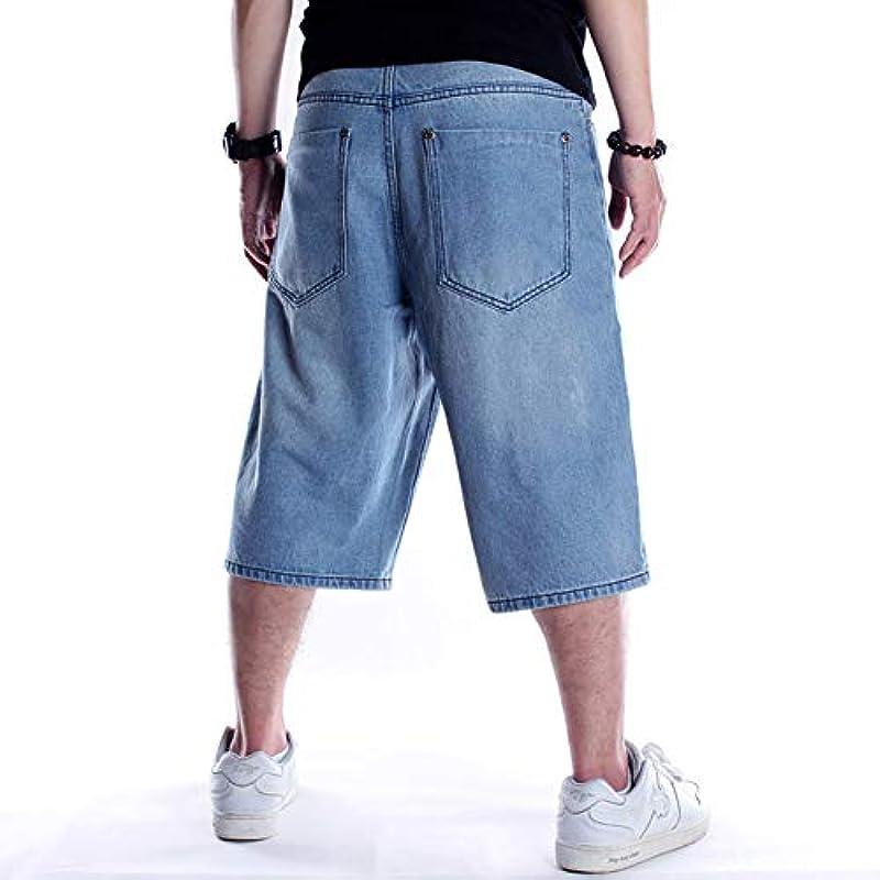 CYSTYLE Vintage męskie dżinsy dżinsy spodnie letnie dżinsy Baggy Jeans Denim Straight Leg Loose Fit: Odzież