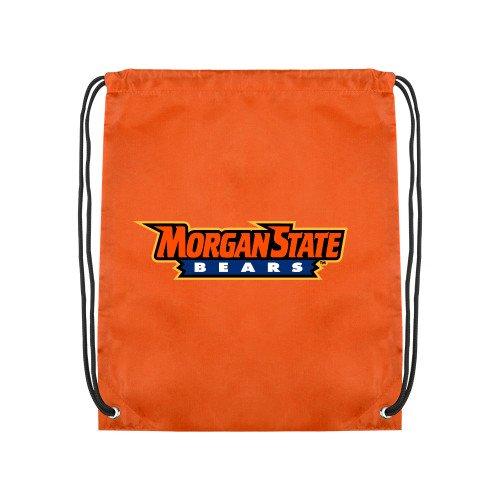 CollegeFanGear Morgan State Orange Drawstring Backpack 'Morgan State Bears' by CollegeFanGear