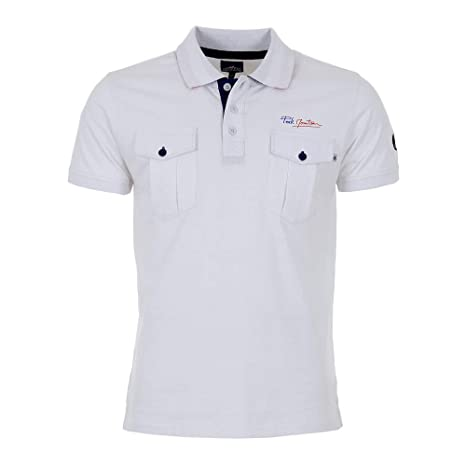 Peak Mountain - Polo Esponja Mangas Cortas Hombre COCHEAK-Blanco-L ...