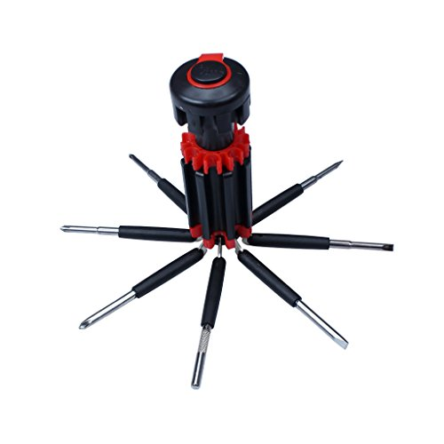 EFORCAR 8 In 1 Multi-function Screwdriver Kit Tool Set With 6 LEDs Light (8in 1 Screwdriver)