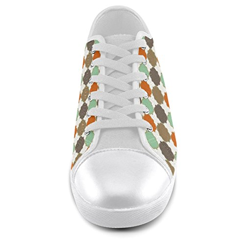 Trellis Canvas Quatrefoil Artsadd Shoes Model016 colorful Men For Custom Pattern qwtqRf6