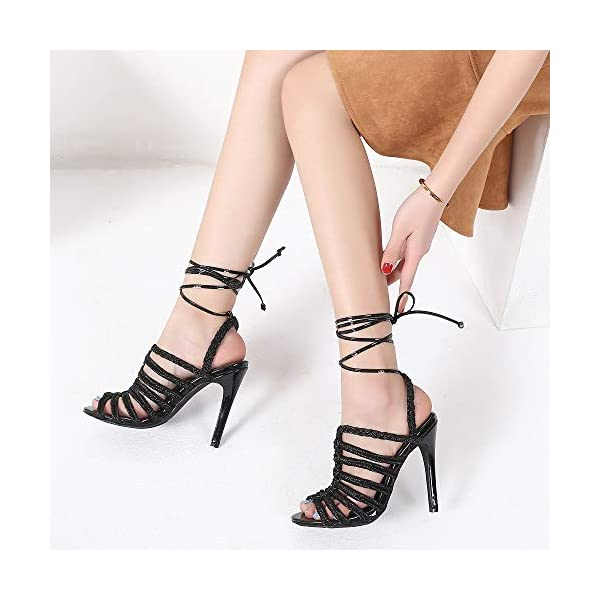 Multi-Straps High Heel Ankle Strap Sandals