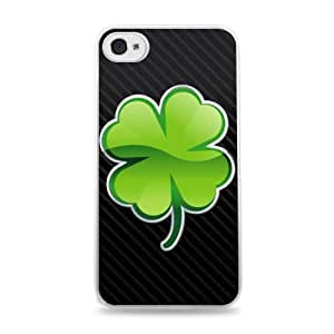 Four Leaf Clover White Silicone Case for iPhone 6 (4.7 inch) i6 hjbrhga1544