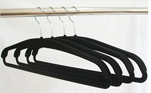 WWZY Velvet Hanger Upscale Wide shoulder Non-slip Durable No trace Adult Clothes Hangers 42CM , 40 by WWZY