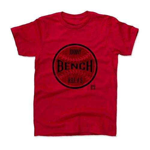 Johnny Banco Ball K Béisbol salón of Fame Kids playera 10–12y Rojo