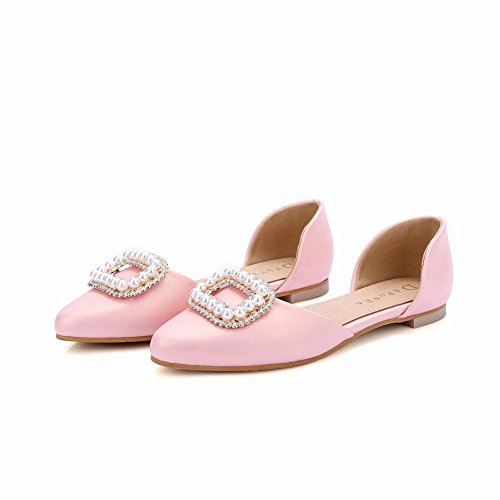 Show Shine Womens Fashion Dolce Perline Mocassino Flats Shoes Rosa