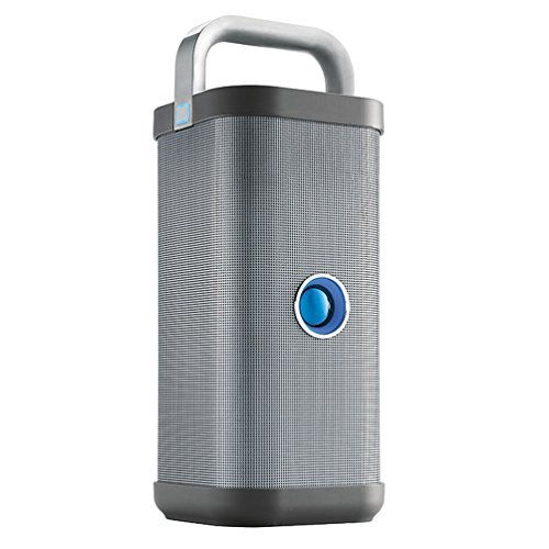 Brookstone Big Blue Party Indoor-Outdoor Bluetooth Speaker