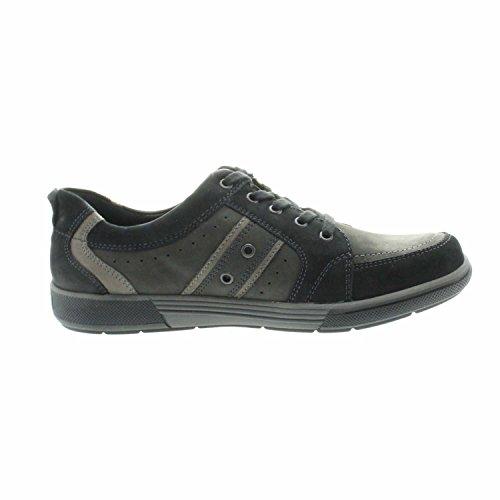 Waldläufer 539002 768 991 Herren Schnürhalbschuhe, Sneaker, schwarz/ carbon schwarz/ carbon