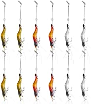 WANBY Fishing Shrimp Lures Artificial Silicone Soft Shrimp Lure Baits Set Kit Luminous Swimbait Shrimp Fishing