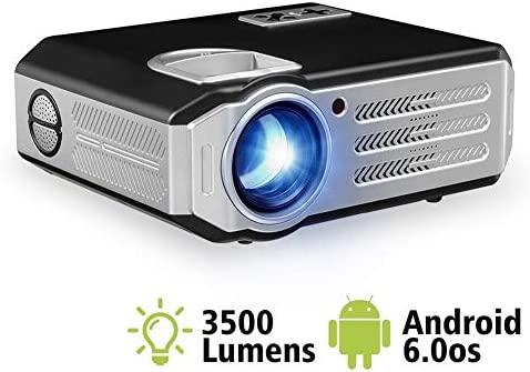 Cine en casa Proyectores,3500 Lúmenes LED Android WiFi Proyector ...