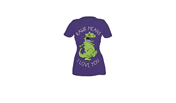 9dcabcd75a9 Amazon.com  Rugrats Reptar Rawr Means I Love You Girls T-Shirt Plus Size  Size   XX-Large  Clothing