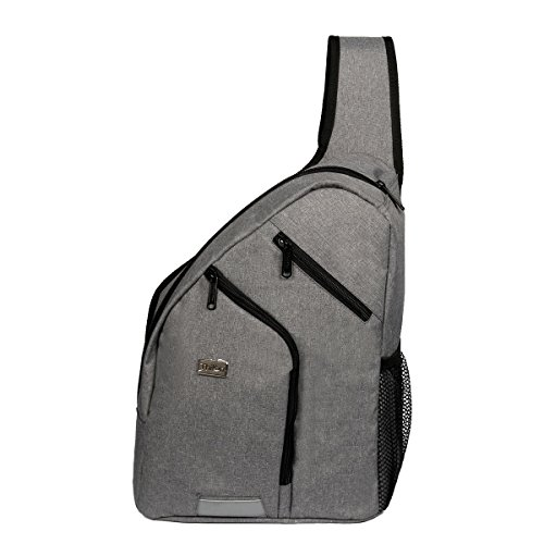 Cozeyat Grey Crossbody Bags Teen Girls Shoulder Bags College Multipurpose Daypack