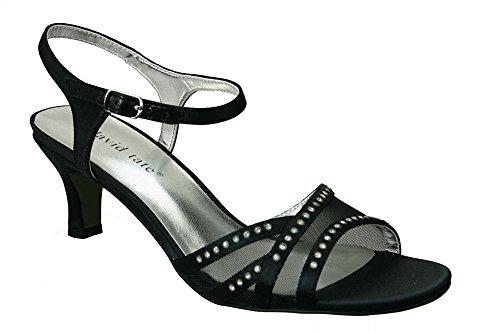 David Tate Women's Violet Black Sandal 10 WW (EE)