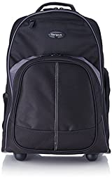 Targus Compact Rolling Backpack for Laptops up to 16-Inch/MacBook Pros up to 17-Inch, Black (TSB750US)