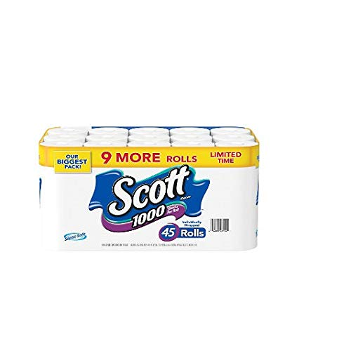 Scott 1000 Limited Edition Bath Tissue (1,000 sheets, 45 rolls) by Scott 1000