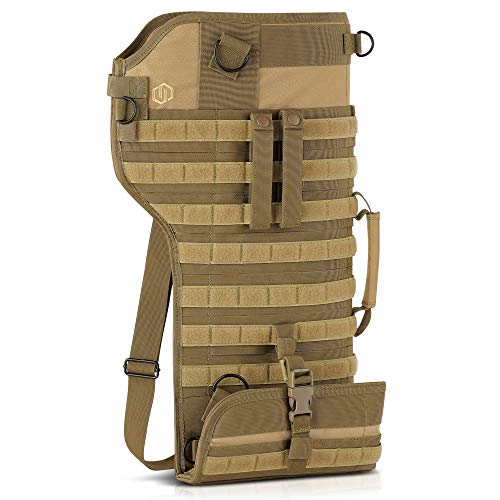 (Savior Equipment Premium Tactical Shotgun Rifle Scabbard MOLLE Gun Case - Adjustable Carry Shoulder Strap, Firearm Protection Sling Bag)