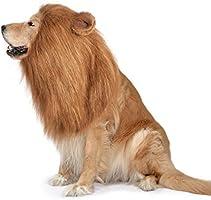 Dog Lion Mane,Funny Dog Costume,Adjustable Lion Mane for Dog Complementary Halloween Lion Costumes with Ears Dog Wig for...