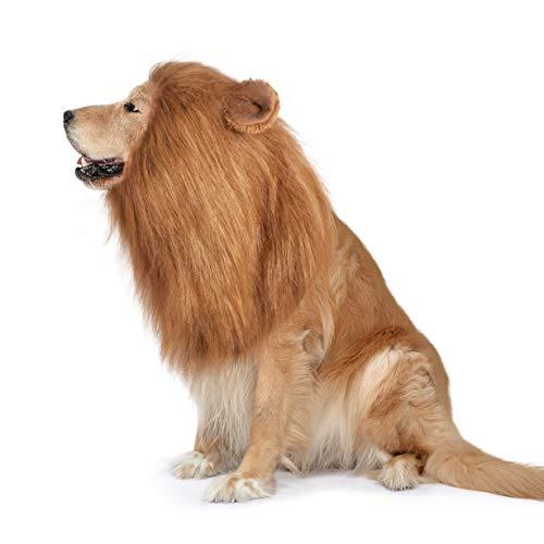 개 LION 갈기 재미있는 강의 의상 조정가능한 사 MANE 개를 위한 보완적인 사자 할로윈 의상으로 귀 개발에 대한 중대형 개