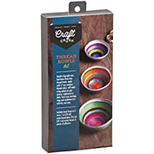 Craft Crush Thread Bowl Kit - Make Your Own Mini Decorative Trio - Crafting Kit for Teens & Adults