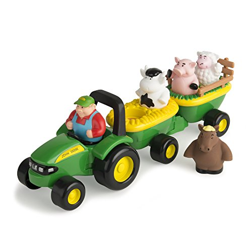 John Deere Animal Sounds Hayride (Farm Tractor Toy)