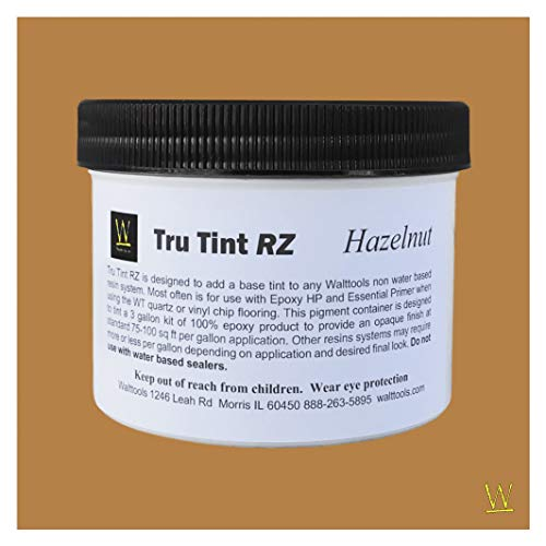 Walttools Tru Tint RZ High-Performance Epoxy and Resin Base Pigment for Seamless Floors & Crafts 6 oz. for Coloring 3 Gallon Epoxy Kits (Hazelnut)