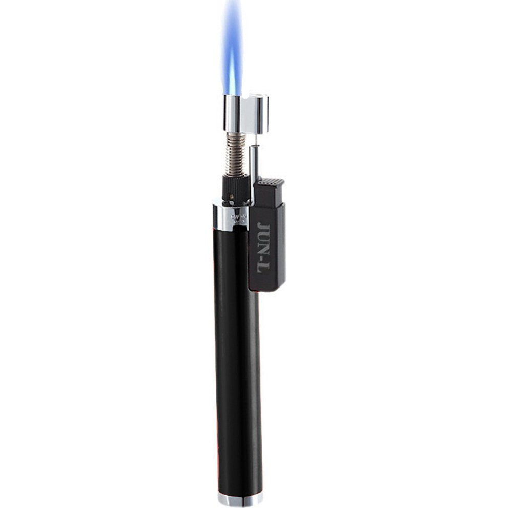 JUN-L Mini Jet Pencil Flame Torch Butane Gas Fuel Welding Soldering Lighter (Black)