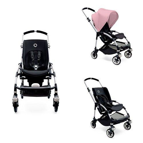 Bugaboo Bee3 Stroller - Soft Pink - Black - Aluminum